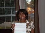 Nicole (deedee's daughter) first paycheck