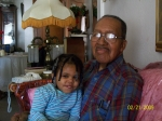 Coleman Woolfolk with his great-granddaughter Dimesha Jones
