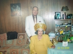 Coleman And Virginia Woolfolk at cousin Elaine Hairston for a dinner in 2003
