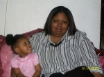 Lisa Woolfolk granddaughter of Coleman Woolfolk Jr. with my daughter Dimesha going to church