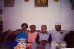 Bessie Henderson Auberry, Allie and Melvin McClelland, Danny Auberry