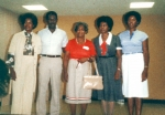 Pearlie Barefield and family at former reunion